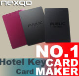 Tarjetas dominantes del hotel imprimible de la tarjeta de crédito de la talla RFID con la viruta MIFARE mini