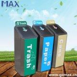 La Plaza de acero inoxidable decorativos de Tres Compartimentos cubo de basura Envirobin ecológico papeleras de reciclaje de oficina