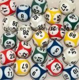 Lotería durable sólida Accessorry de la bola del color de la lotería del drenaje de la bola del bingo de la loteria afortunada multi de la bola