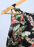 Neue Sommer-Form-Dame-romantische lose gedruckte Blumen-Weste-Oberseiten