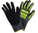 Schützende TPR Handschuhe der mechanischen Auswirkung-für Ölfeld mit Cer Anti-Schneiden