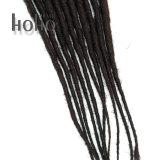 Single Ended Backcombed 24 pouces redoute l'extension de cheveux synthétiques