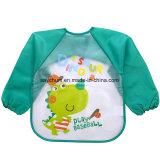 赤ん坊の胸当ての長い袖の芸術のエプロン動物のスモックの子供の胸当てのげっぷの衣服の柔らかい挿入は幼児を防水Baberos食べる