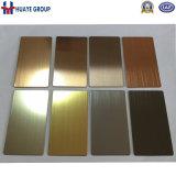 Hochwertiger Überzug Brown, Rosen-Gold, Grau, Wein-Rot, Bronze, Gold, schwarzes Titan der Edelstahl-farbige Platten-Blatt-PVD
