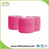 повязка эластичного кохезионного Nonwoven латекса 5cm покрашенная *4.5m свободно Собственн-Придерживаясь