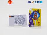 Preço baixo plástico inteligentes RFID Mf 1K cartão chip para bilheteira