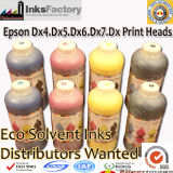Tinta solvente de Eco para Epson Dx4. Dx5. Dx6. Dx7. Cabezas de impresión Dx8