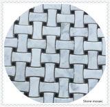中国壁の装飾のための白いBiancoカラーラの大理石のモザイク・タイル