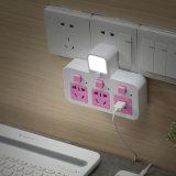 protezione di impulso 4-Outlet con 4-USB che incarica lo zoccolo di potere astuto della lampada del LED