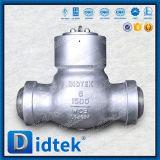Надежность Didtek легированная сталь стыковой прерывистый шов обратный клапан поворотного механизма