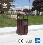 WPC без искажений на открытом воздухе с садом в мусорные контейнеры