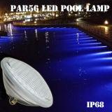 De vidrio grueso resistente al agua IP68 RGB LED PAR56 Lámpara de Piscina Piscina