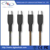 Para Micro USB Tipo C EPT/Injecção PVC+PU Cabo de couro com 5V 2.4A