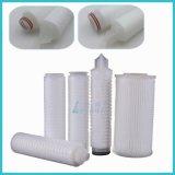 10 pulgadas 5 filtro de agua plisado del sedimento del microporo del micrón PP para pre el filtro de agua
