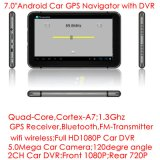 2017 PC externo Android barato da tabuleta de Bluetooth 3G com GPS Navgation, 2.0mega carro HD1080p cheio DVR, câmera dupla do carro; Bluetooth 4.0; Transmissor de FM para o áudio do carro;
