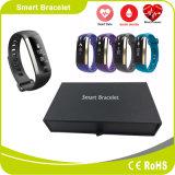 Pulsera elegante vendedora caliente de Bluetooth de la supervisión de la presión arterial del ritmo cardíaco