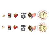 ロゴのバッジのバッジボタン/バッジPinボタンをカスタム設計しなさい