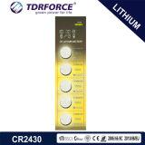 3V Non-Rechargeable Batterij van het Lithium van de Cel van de Knoop met Ce voor Stuk speelgoed (CR2430)