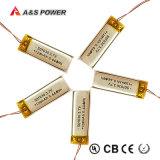 Batería recargable de Lipo del Li-Polímero del polímero del litio de la UL 501030 3.7V 120mAh