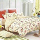 Lenzuola floreali del cotone con il re Size del coperchio dei cuscini
