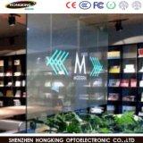 P7.81mm Shopping Mall mur de fenêtre en verre transparent de la publicité affichage LED