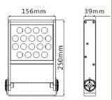 18W Nuevo Modelo de iluminación de inundación IP65 Proyector LED de OSRAM