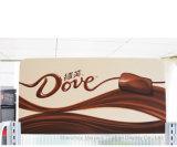 Stand de sucrerie de crémaillère d'étalage de chocolat de supermarché de bonne qualité