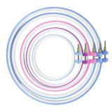 Mano rotonda del punto della macchina del blocco per grafici di ricamo dell'anello trasversale pratico del cerchio