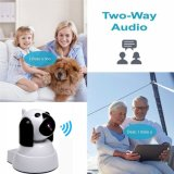 video astuto del bambino della videocamera di sicurezza/animale domestico del IP della rete di WiFi del cane di 1.0MP 720p HD due, audio bidirezionale della macchina fotografica dell'interno, visione notturna