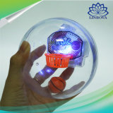 Pallacanestro tenuta in mano della palma della macchina di pallacanestro del filatore divertente della novità con indicatore luminoso + musica + anti giocattolo di Stres del cestino per il regalo