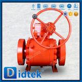 Didtek China Hersteller-Metall Sitzform-Stahl-Drehzapfen-Kugelventil
