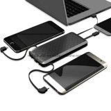 전화 iPhone iPad Samsung Huawei 정제 휴대용 퍼스널 컴퓨터를 위한 소형 충전기 외부 백업 건전지 8000/12000mAh 보편적인 힘 은행 붙박이 케이블