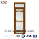El grano de madera Puertas de seguridad de aluminio puertas de vidrio baratos