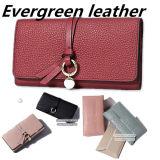 Mode nouveau style d'embrayage Lady Purse Portefeuille en cuir sac à main en cuir véritable (AL328)