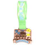 Hohe Guqlity Karten-Firmenzeichen-runde Form-herausgeschnittene Marathon-laufender Sport-kundenspezifische EBB-Medaillen mit Farbband