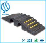 Rampa de goma durable del manguito de la seguridad de fuego de 2 canales