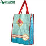 熱い販売の環境友好的なリサイクルされた薄板にされた非編まれたショッピング・バッグ