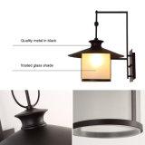 Luces de la lámpara del aplique de la pared de la cocina de la vendimia de Qaulity con la cortina de cristal en negro