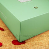 La impresión de logotipo personalizado Hot Stamping Papel recubierto de plegado de la caja de regalo para el té y café.