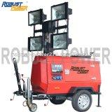 de Hoge Output die van 8m de Mobiele Diesel Draagbare Lichte Toren van de Generator ineenschuiven