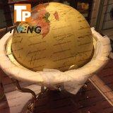 Globo politico del grande mondo d'ottone decorativo 43mm, globo della decorazione