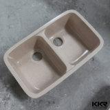 Белый искусственный камень акриловый твердой поверхности кухонной раковиной (171211)
