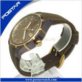 標準的で、熱い販売のスイス様式の本革の防水水晶腕時計