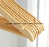 Primarios seleccionada antideslizantes de madera sólida de la percha de madera No-Rastrean el clip de los pantalones (M-X3215)