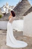 Amelie felsiges Nixe-Satin-Stickerei-Hochzeits-Kleid 2018