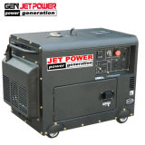 generatore diesel silenzioso di inizio elettrico di 5kw 5kVA 6.5kVA con le rotelle