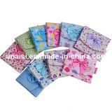 Stock портмоне монетки мешка бумажника держателя санитарных салфеток хлопко-бумажная ткани