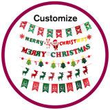 Decoraciones de encargo de la ventana de la casa de la Navidad