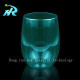 copo de café de cristal do vidro de vinho branco do animal de estimação 12oz