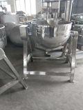 Bouilloire revêtue de chauffage de vapeur pour la bouilloire revêtue de gaz d'industrie alimentaire